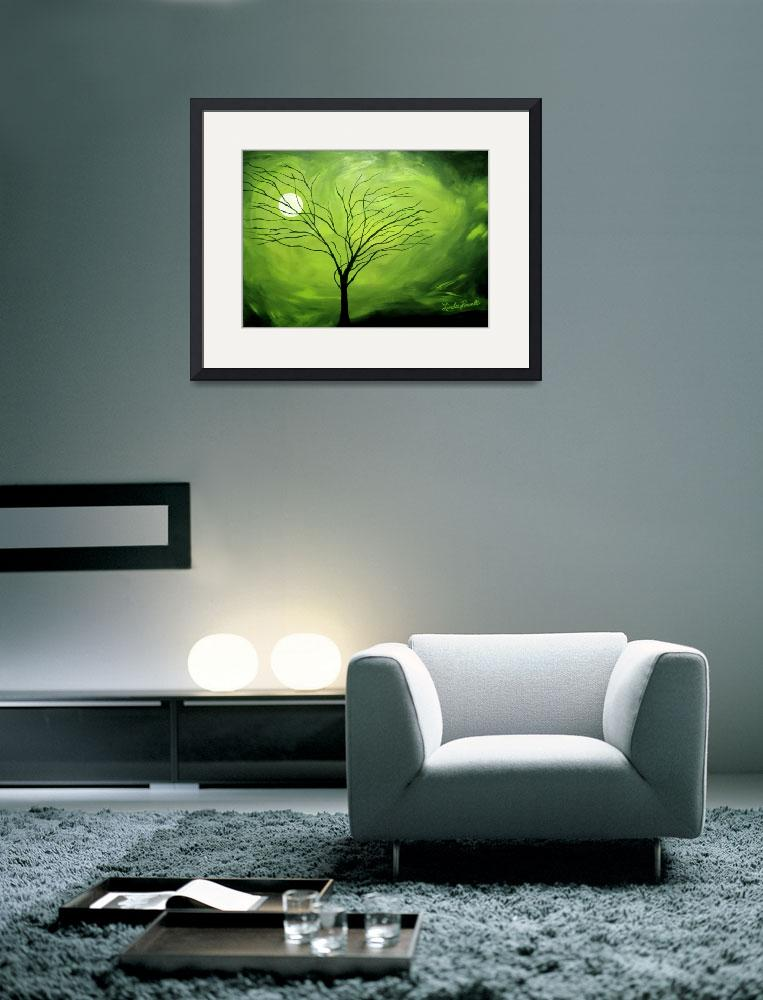 """""""Green Night 1&quot  (2008) by lindapowellfineart"""