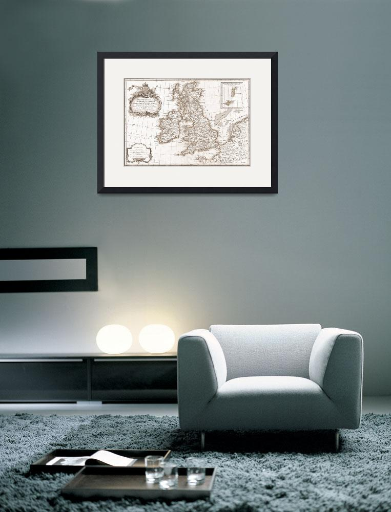 """""""Eighteenth Century Britain Map&quot  by TammyWinandPhotography"""