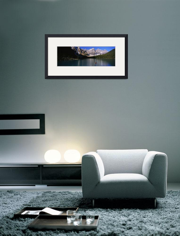 """""""Person boating in a lake&quot  by Panoramic_Images"""