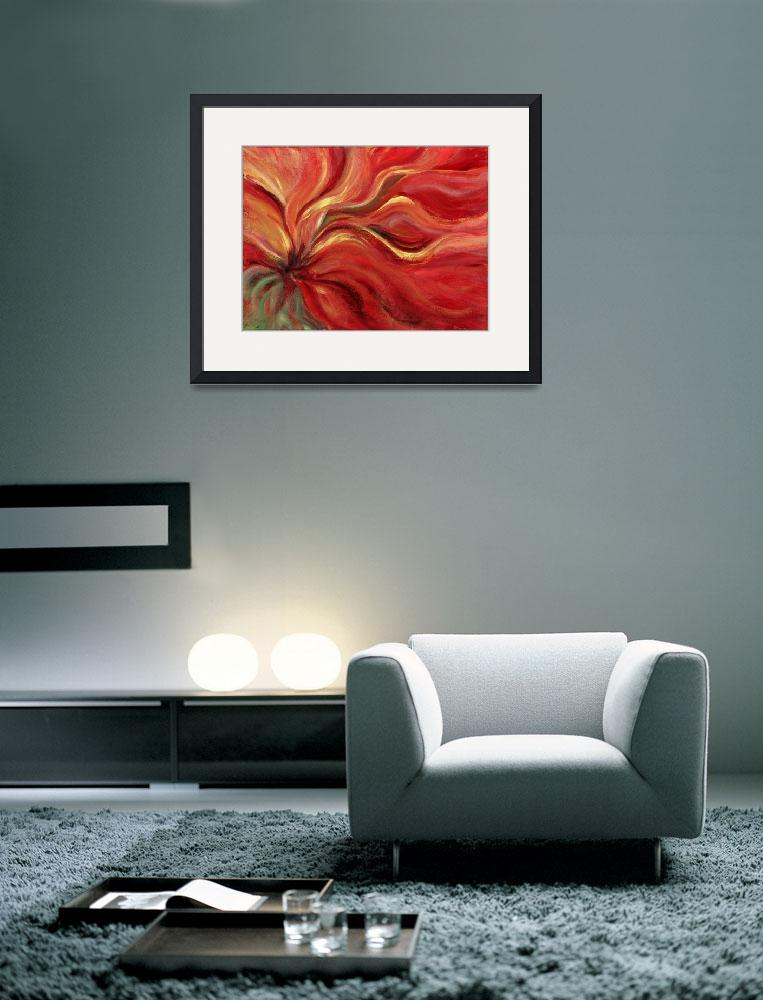 """Flaming Flower&quot  (2007) by nadinerippelmeyer"