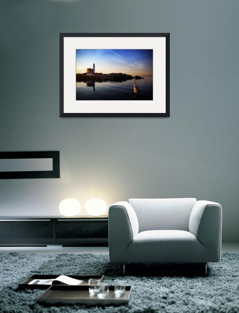 """""""Heron & Fisgard Lighthouse&quot  (2009) by spetter"""