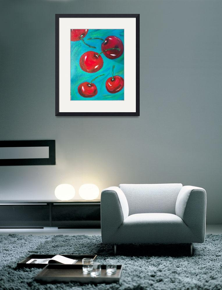 """""""Falling cherries&quot  (2010) by friddleart"""