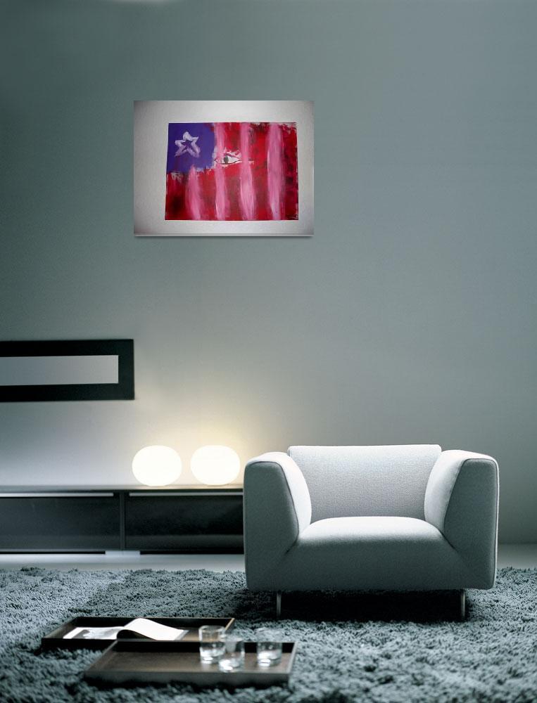"""""""fascism flag 18"""" by 24""""""""  (2008) by Benwallis211"""