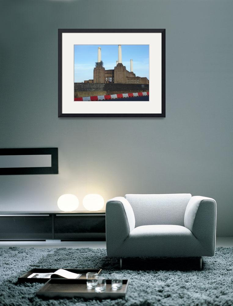 """""""Battersea Power Station With Barrier&quot  by RandomlyLondon"""