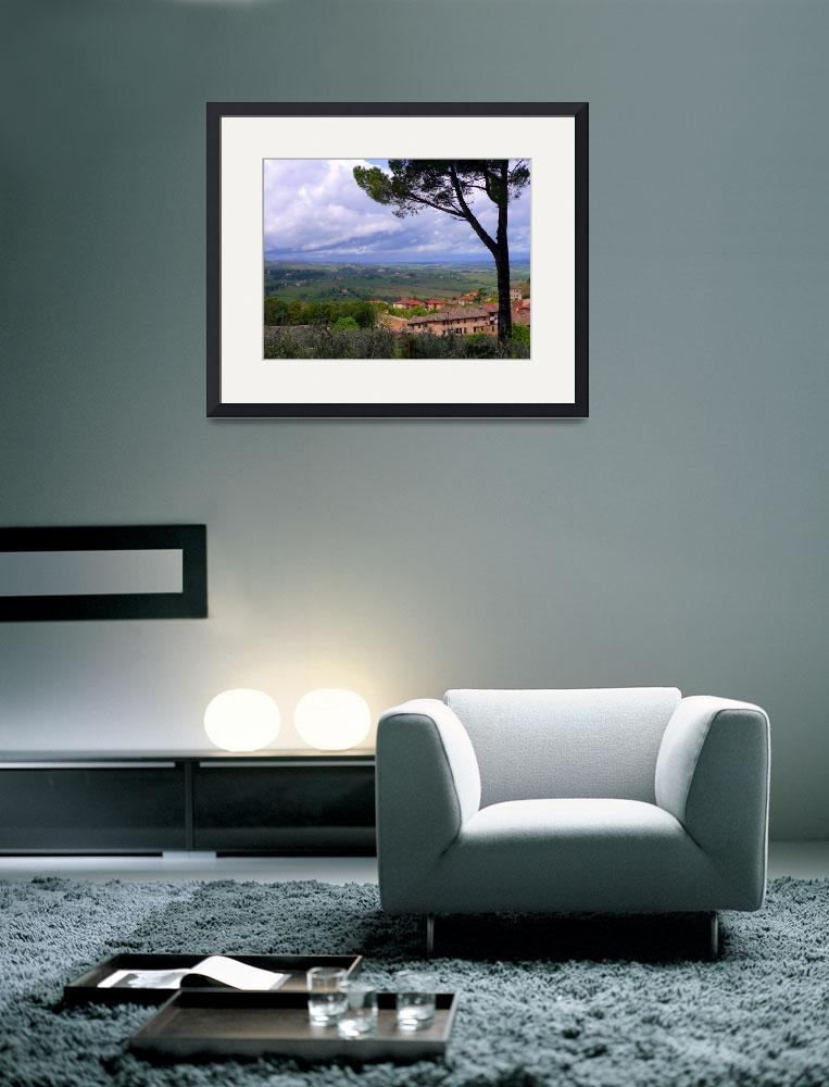 """View from San Gimignano 3""  (2008) by gbensonart"