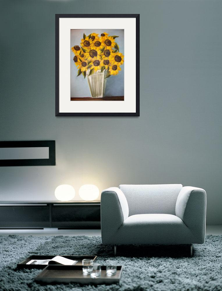 """Sunflowers&quot  (2009) by dldann"