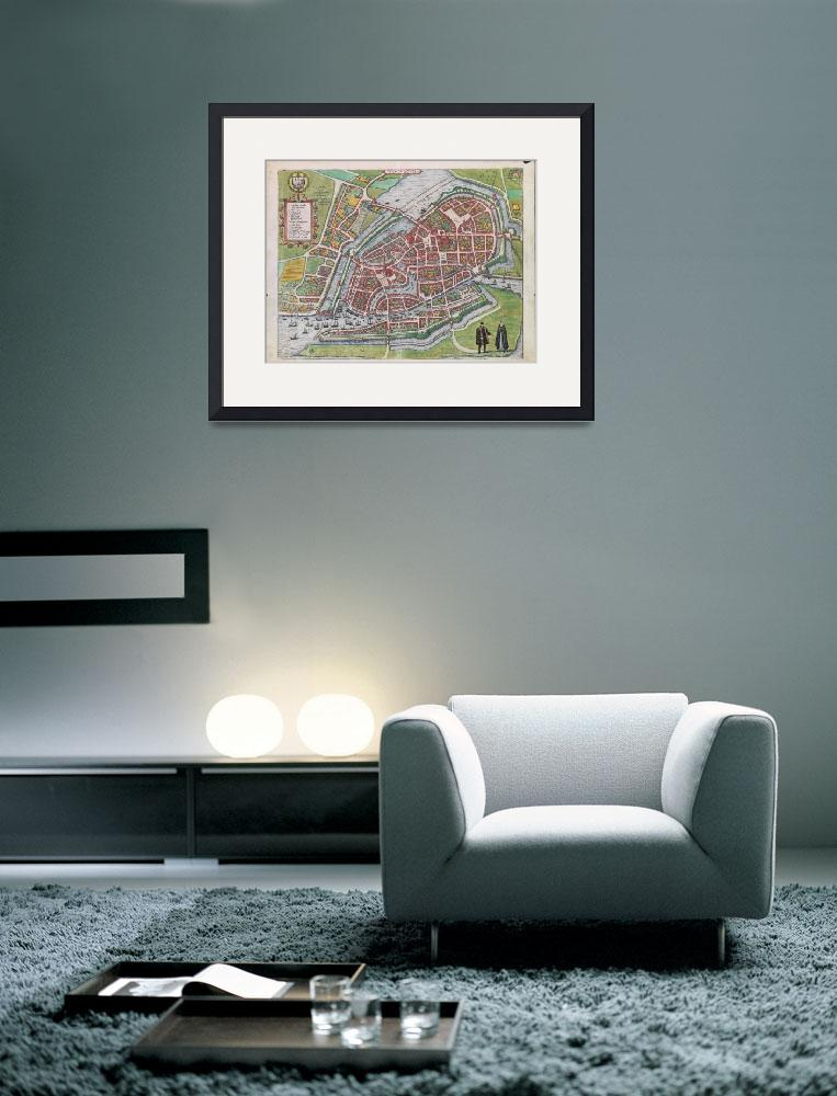 """""""Vintage Map of Hamburg Germany (1590)&quot  by Alleycatshirts"""