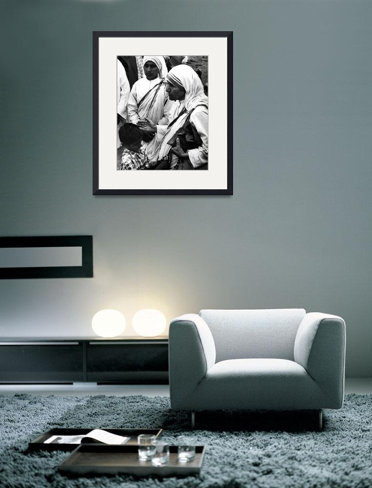 """Mother Teresa with young boy&quot  by RetroImagesArchive"