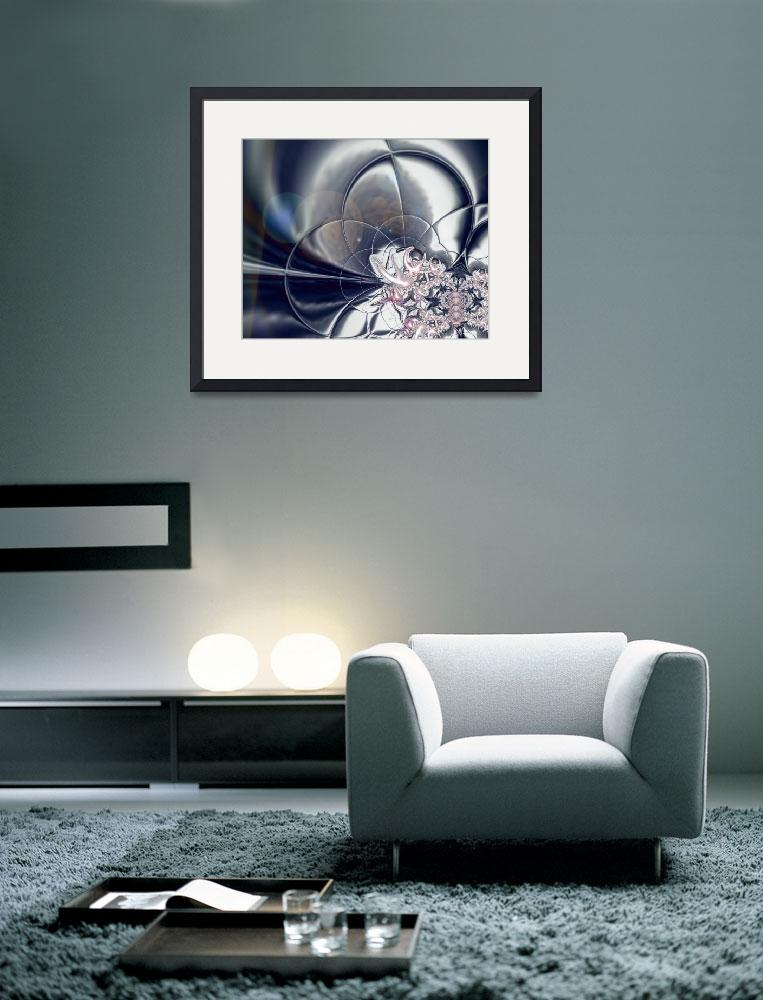 """""""Abstract Art Silver And Pink Pearls""""  (2009) by shanmaree"""