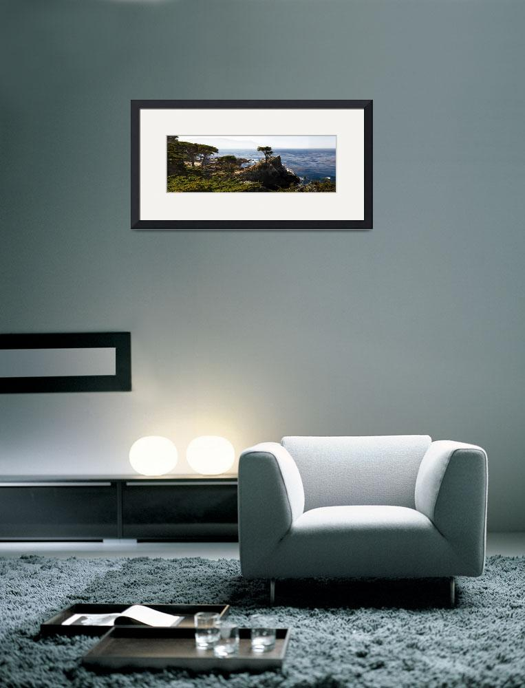 """""""Panoramic View of the Pacific Coastline at Pebble&quot  (2013) by George_Oze"""