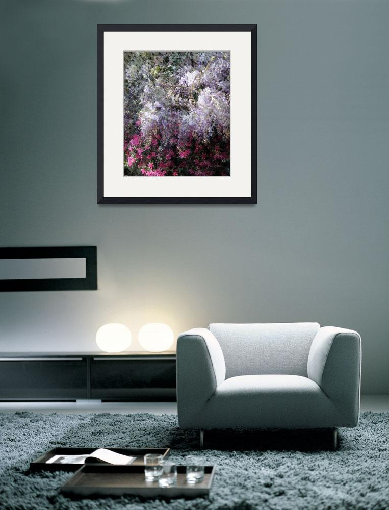 """Wisteria and Azalea&quot  (2010) by patriciaschnepf"