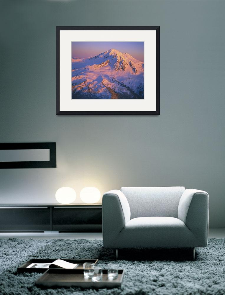 """""""Aerial of Mount Baker in sunset light&quot  (1999) by JohnChaoPhoto"""