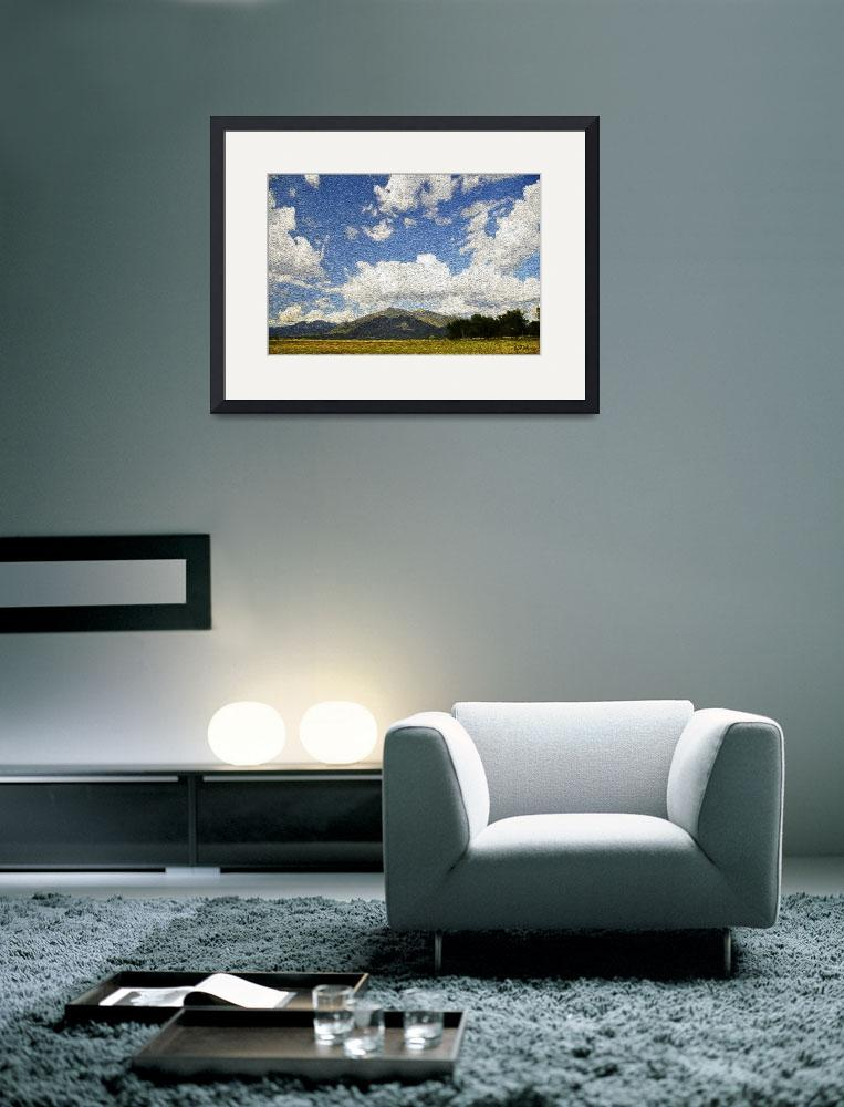 """Clouds over Taos Mountain&quot  (2012) by Wilford"