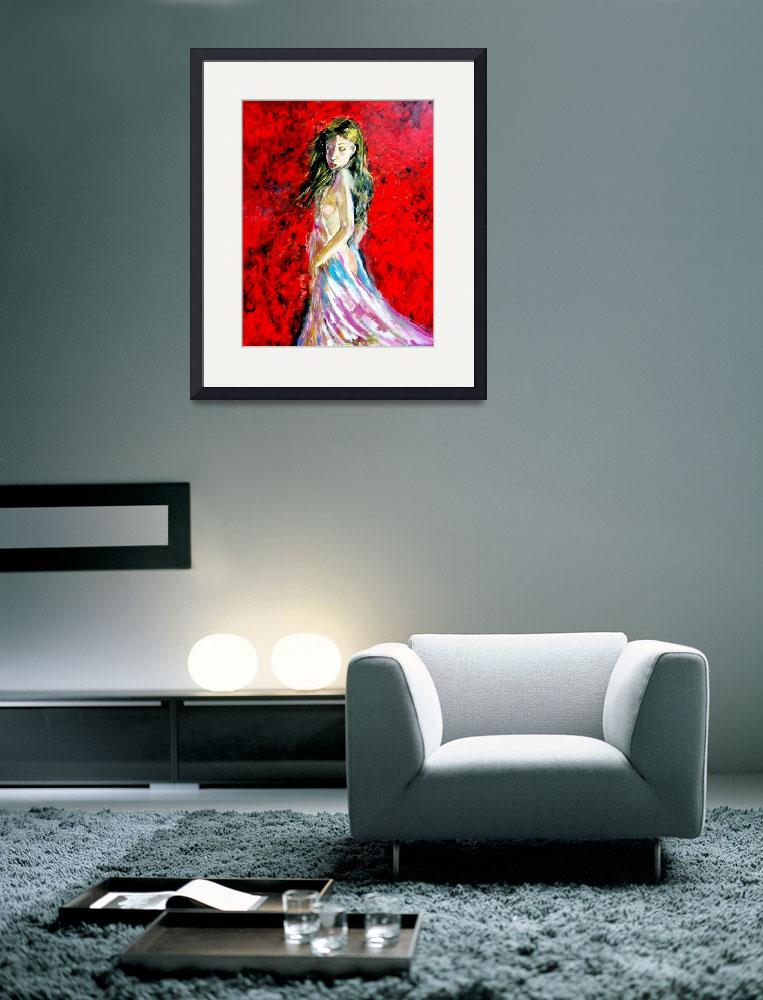 """""""Temptation-The Lady in Red""""  (2014) by cneartgallery"""