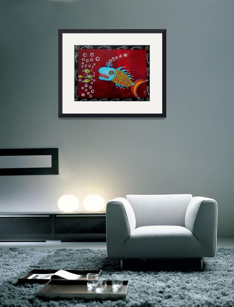 """""""Willy The Whale Fish&quot  (2012) by ClaudiaTuli"""