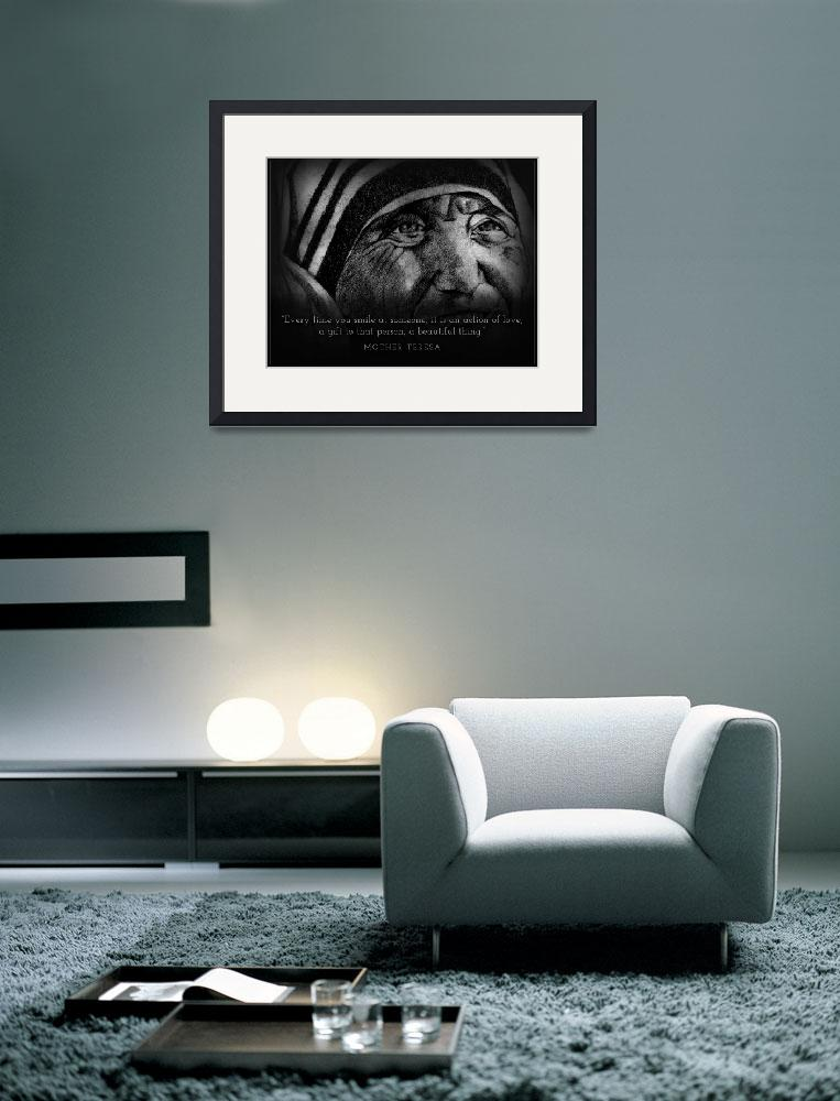 """""""Inspirational Portrait - Mother Teresa&quot  (2012) by CreativeArtisticNuance"""