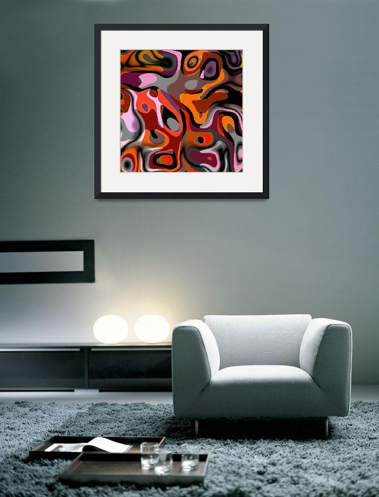 """""""ZIZZAGO Art Abstract Multi Color World 1&quot  (2010) by shanmaree"""