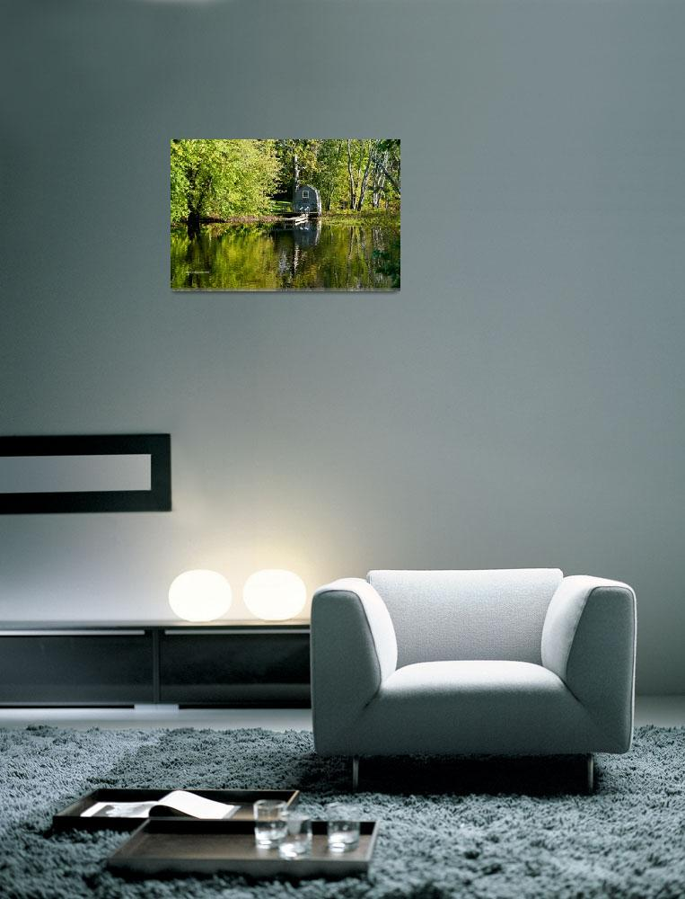 """""""Building on Concord River Horizontal&quot  (2011) by SamSherman"""