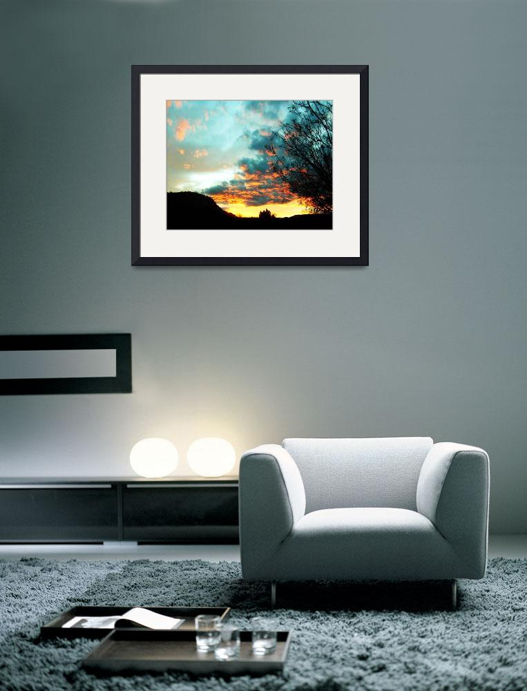 """""""Turquoise Sunset&quot  (2008) by Attentiongetters"""