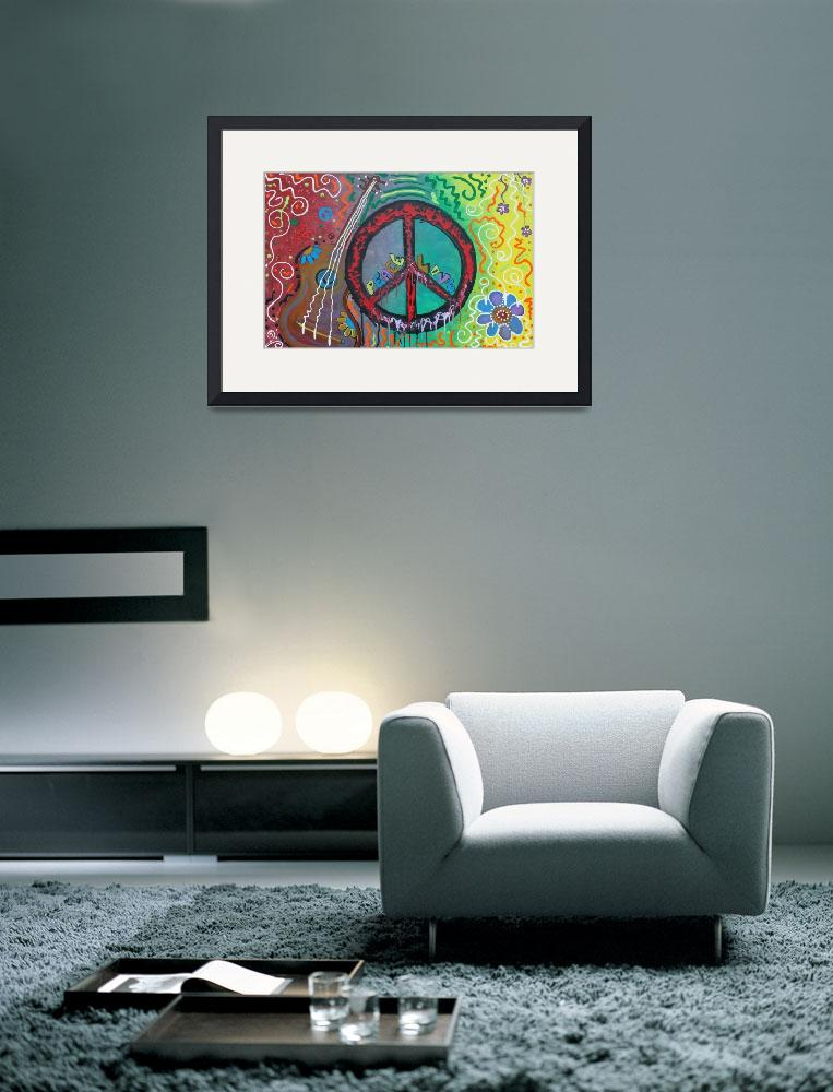"""""""Peace and Love&quot  (2011) by ArtPrints"""
