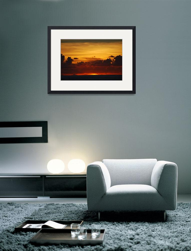 """""""Sunset at Sea&quot  (2008) by JWHPhotoArt"""