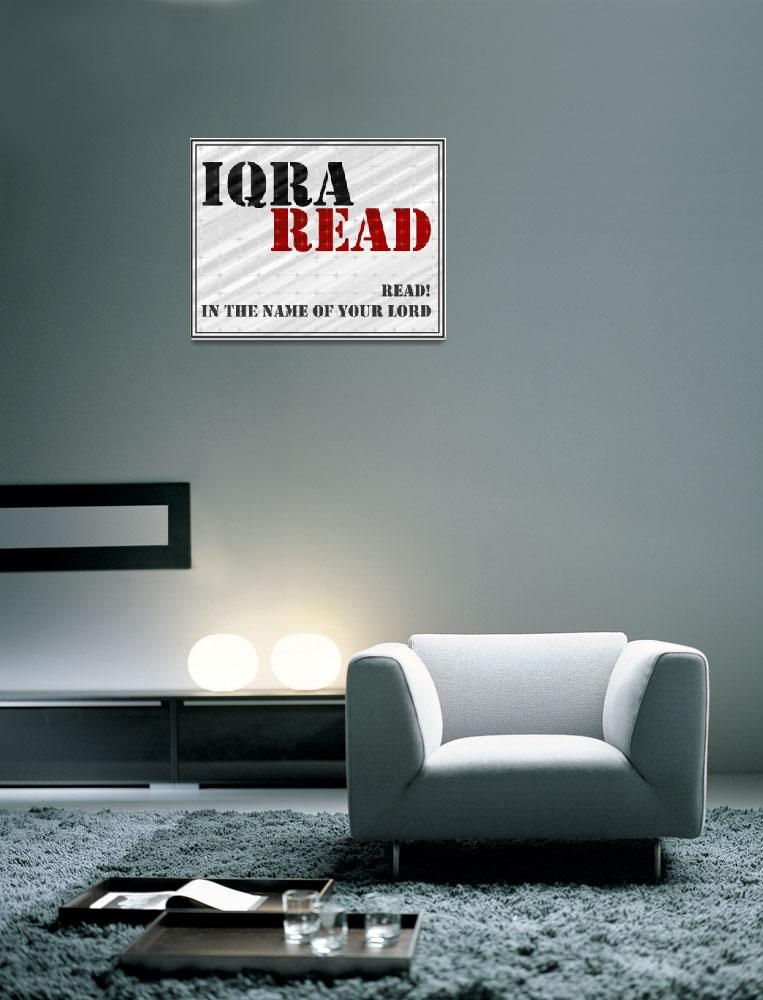 """""""Iqra-Read""""  (2012) by halalidesigns"""