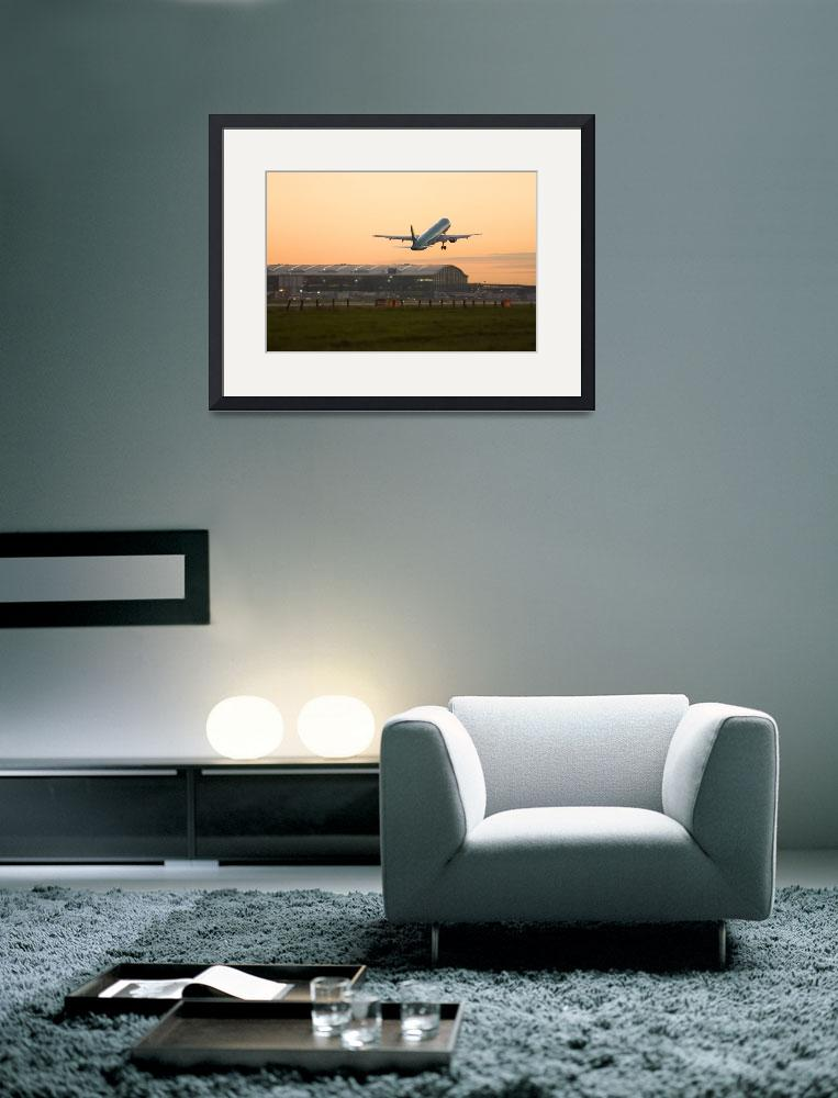 """""""Commercial airplane taking off at Heathrow""""  (2009) by birdlike"""
