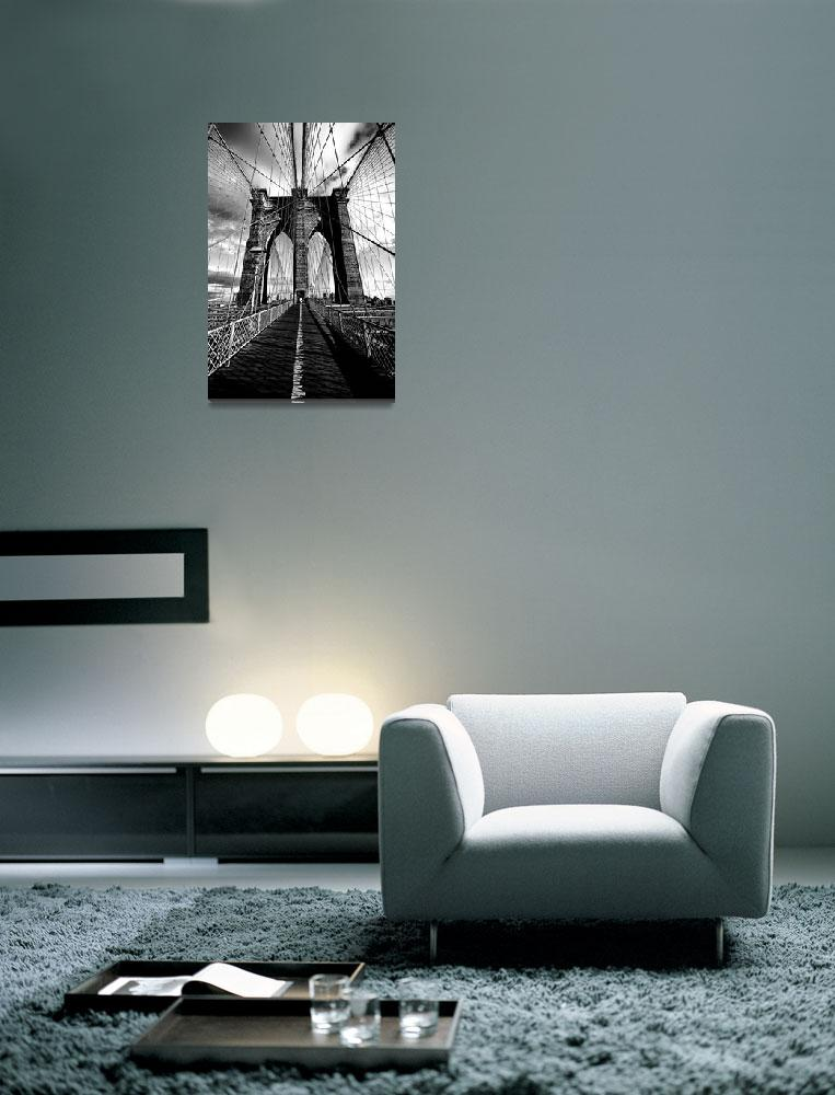 """""""Upon the Brooklyn Bridge Tower&quot  (2010) by New-Yorkled"""