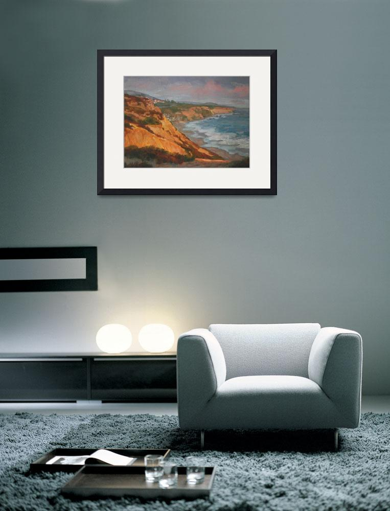 """""""Impressionist Landscape Painting of Laguna Beach&quot  (2011) by kevinmccain"""