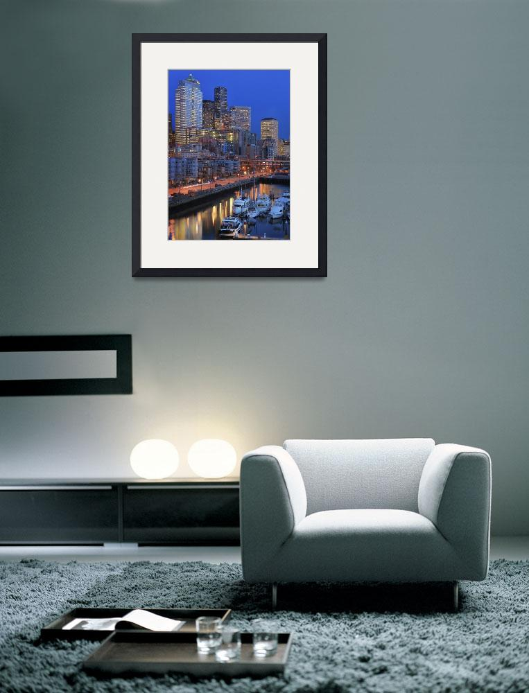 """""""Seattle By Night""""  (2007) by Inge-Johnsson"""