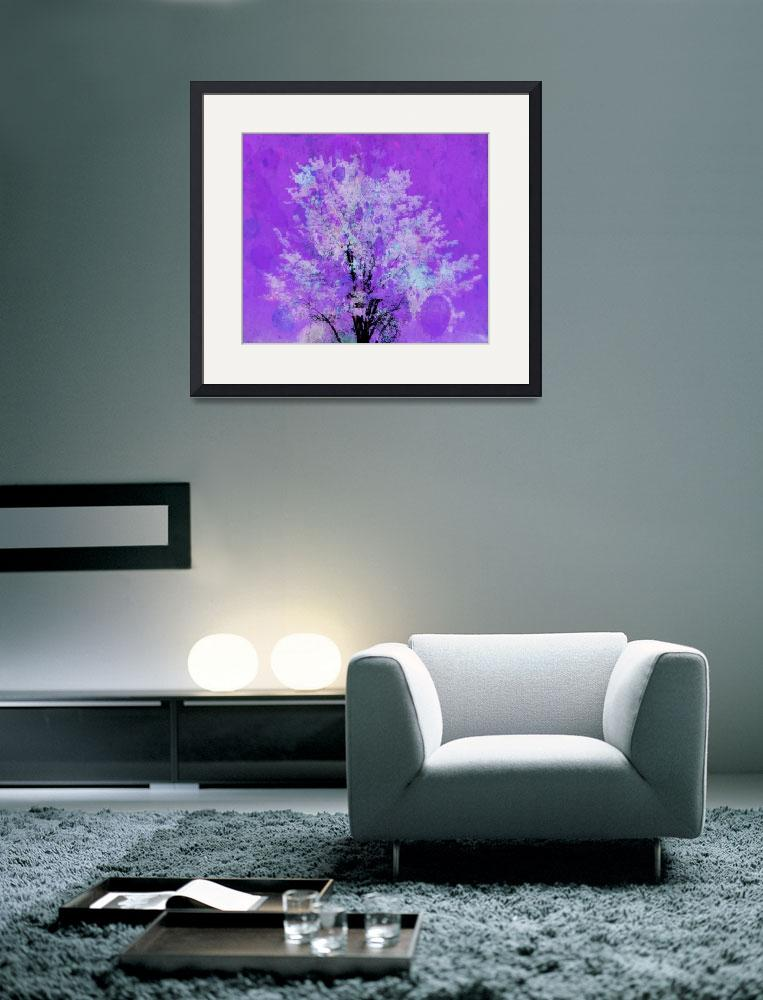"""tree 2 purple artistic""  by lizmix"