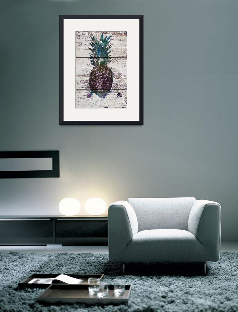 """""""ORL-5290-2 Modern Vintage Pineapple II&quot  by Aneri"""