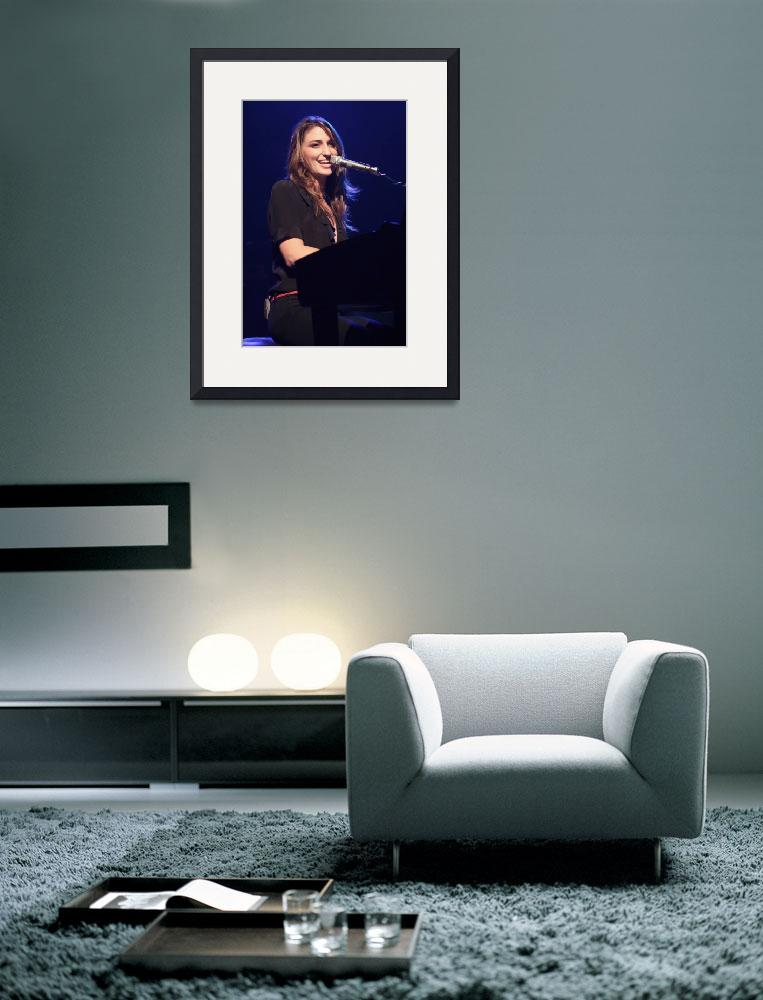 """Musician Sara Bareilles&quot  by FrontRowPhotographs"