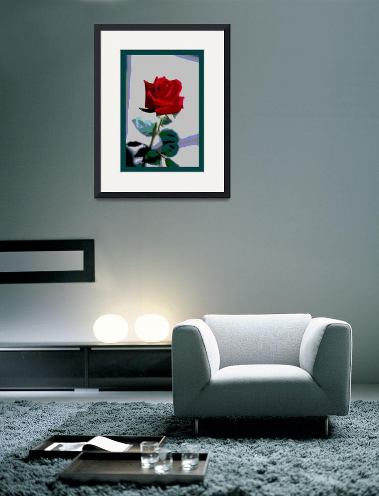 """""""Red Rose Enhanced small border&quot  (2013) by TheNorthernTerritory"""
