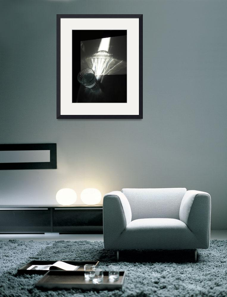 """""""Black and white light study refraction 2&quot  (2010) by Corbett"""