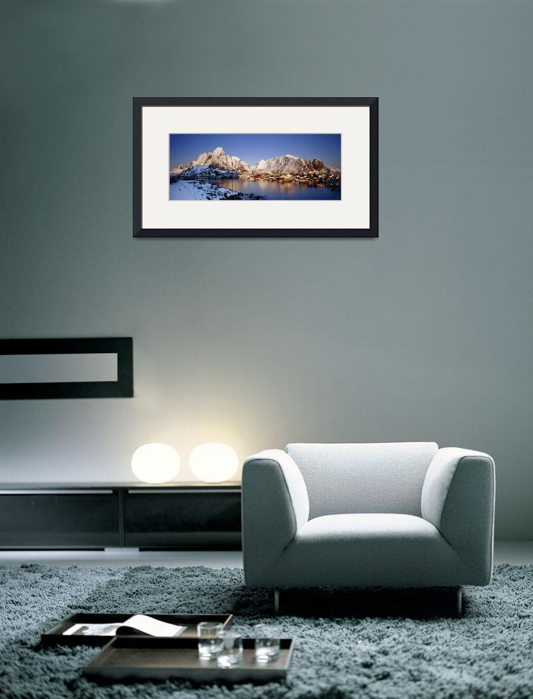 """""""Mountains along a sea side&quot  by Panoramic_Images"""
