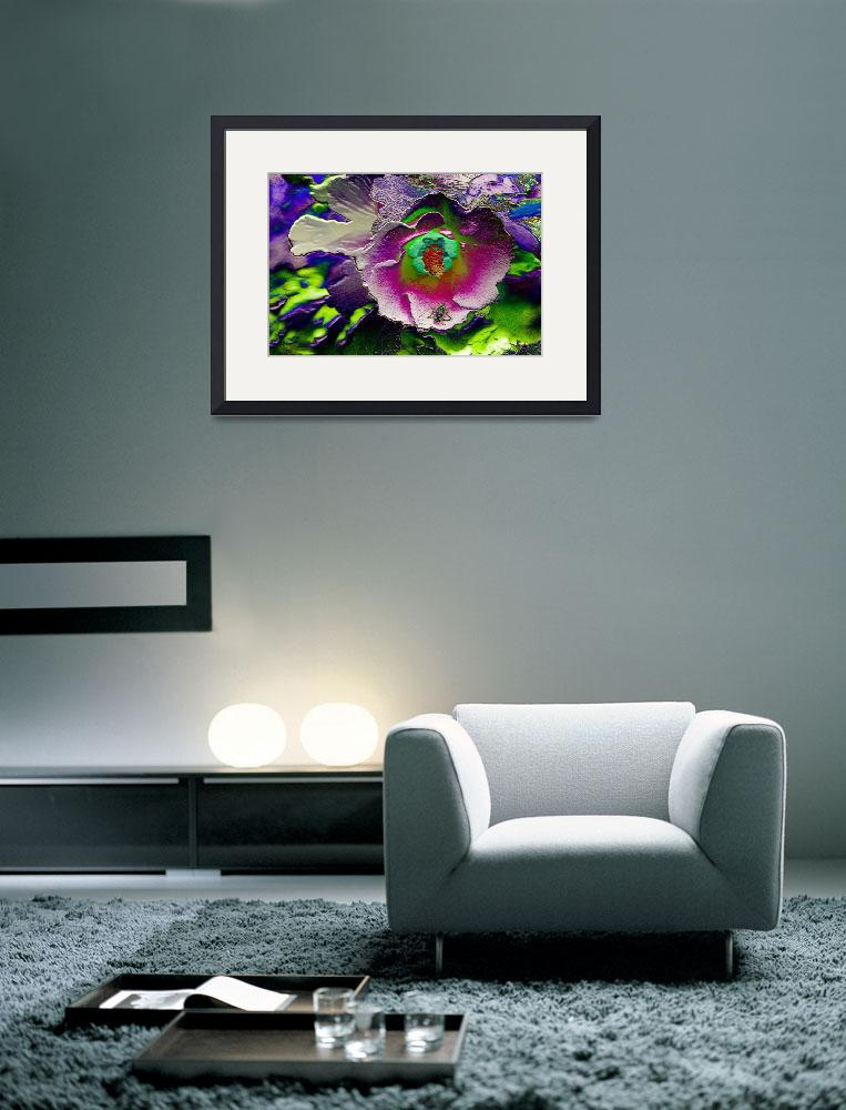 """""""Green Hornet on a Flower - 3D&quot  (2010) by SecondCityImage"""