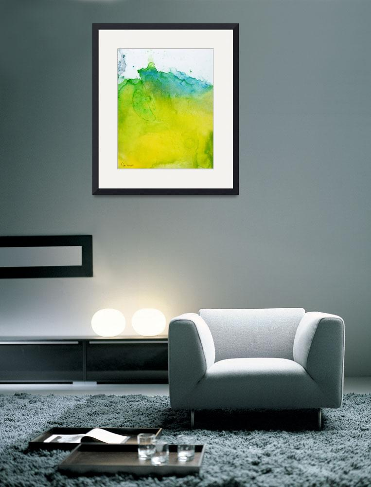 """""""Yellow Blue Square&quot  by ellsworth"""