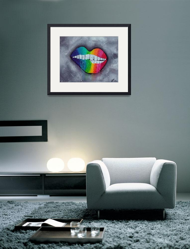 """Rainbow Lips""  (2014) by ArtPrints"
