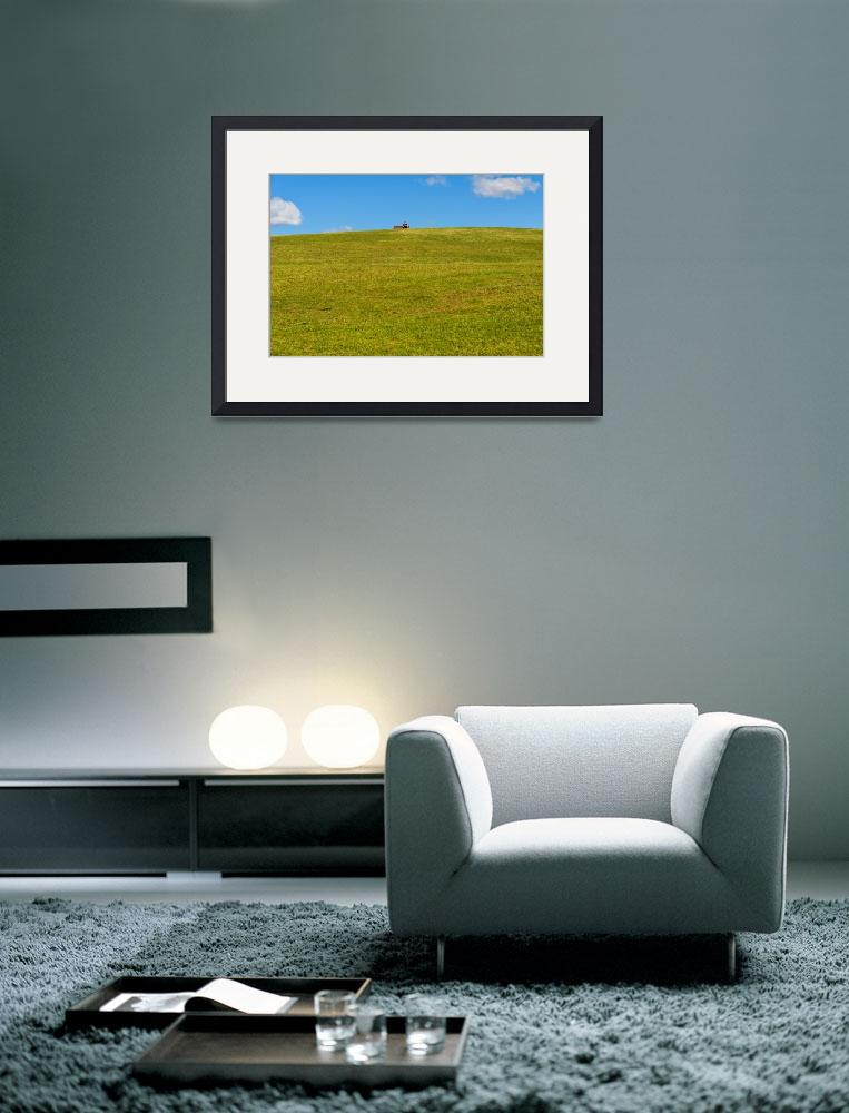 """""""Lone person Seat skyline Grass Clouds Sky&quot  (2013) by Downundershooter"""
