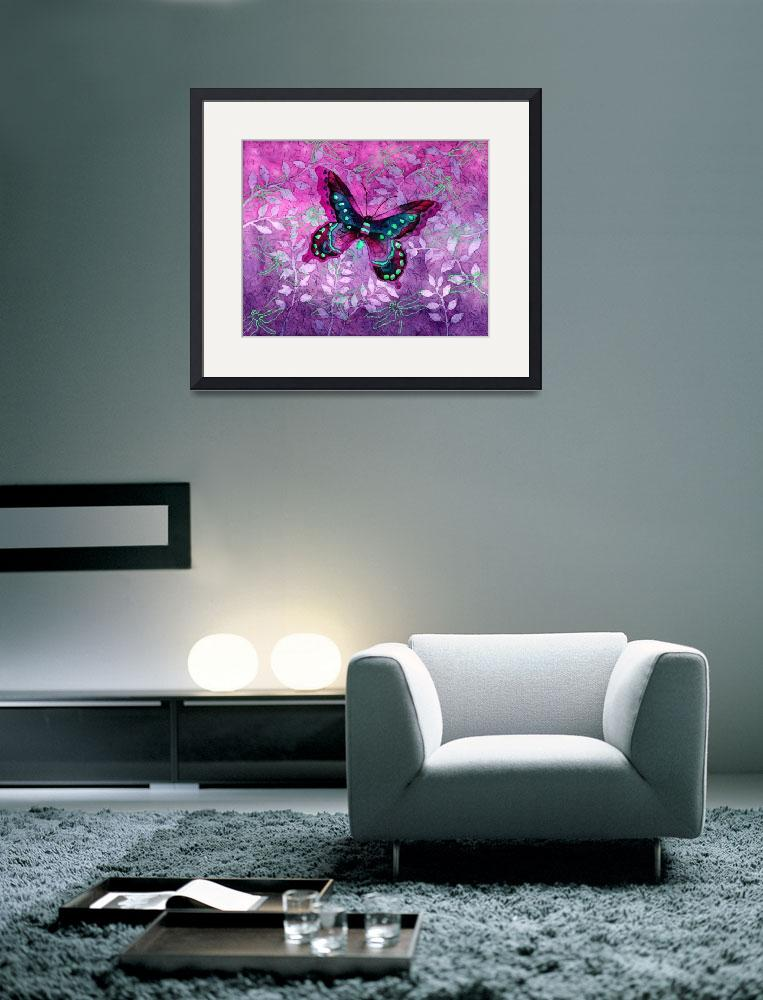 """Purple Butterfly&quot  by HaileyWatermedia"