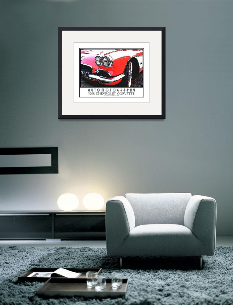 """""""1958 Chevrolet Corvette Poster""""  (2008) by Automotography"""