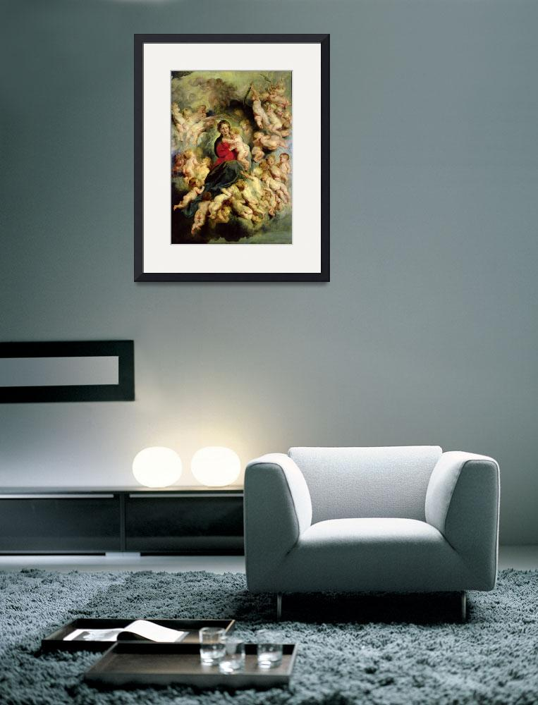 """""""The Virgin and Child surrounded by the Holy Innoce&quot  by fineartmasters"""