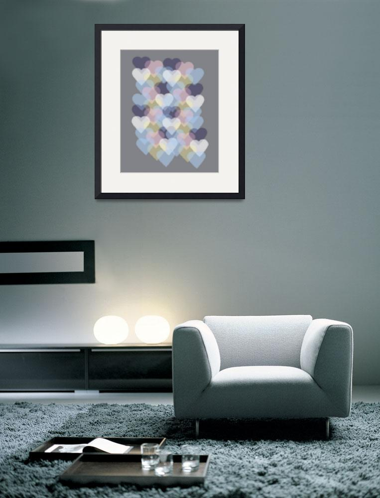 """""""Bokeh Inspired Colorful Hearts""""  (2014) by ValeriesGallery"""