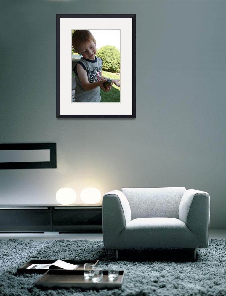"""""""A boy and his frog.&quot  (2009) by karmaphotos"""