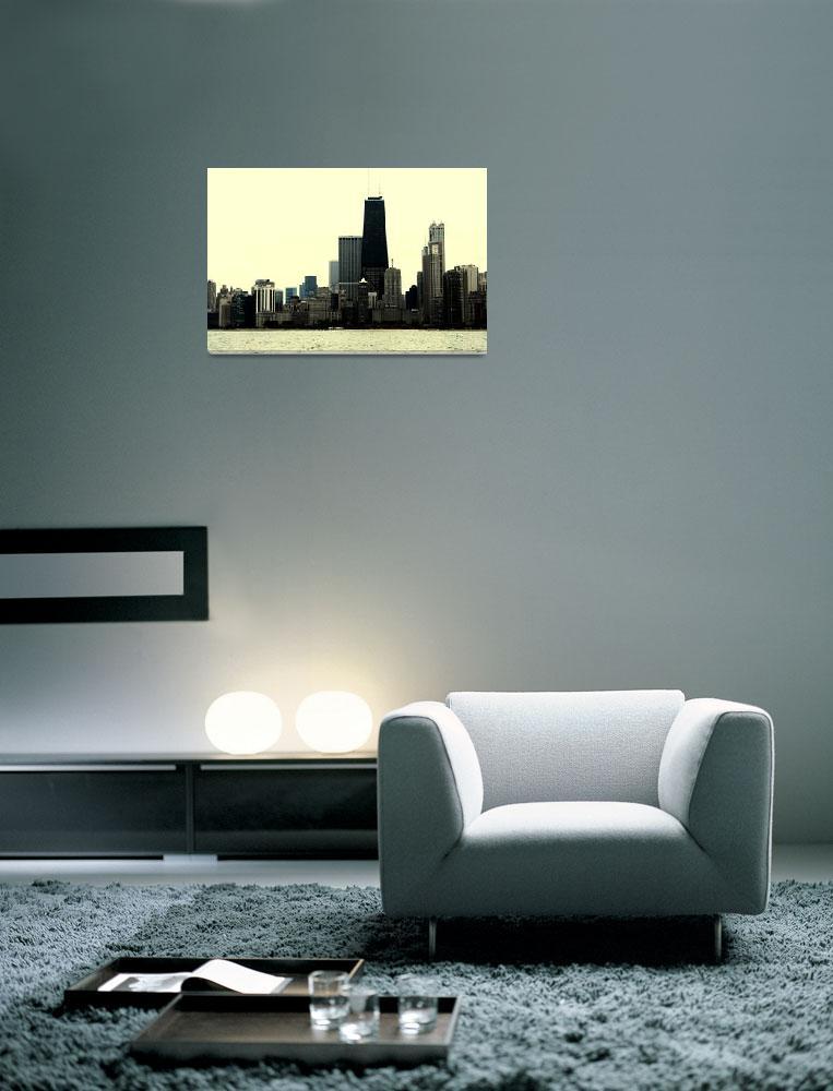 """""""Chicago Skyline""""  (2009) by aleksasha"""