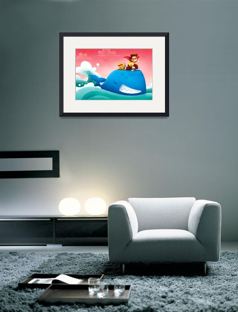 """""""Whale Kid&quot  (2010) by marcuscutler"""