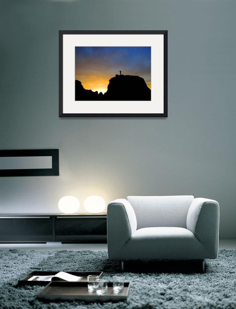 """framed-print-large-14x10-dan-at-arches&quot  by wavian"