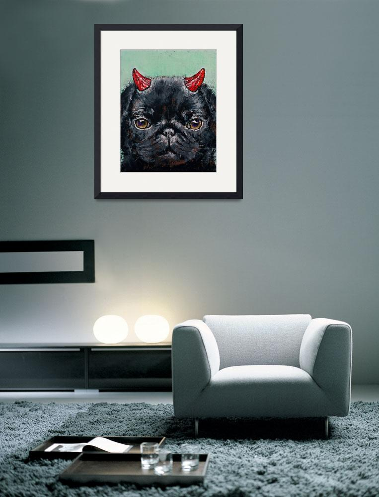 """""""Devil Pug&quot  by creese"""