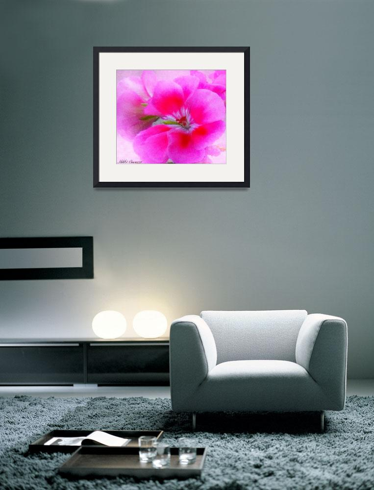 """""""Pink Flower Painterly&quot  (2012) by micspics444"""